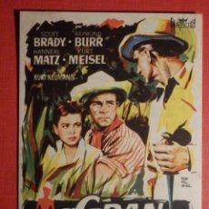 Cine: FOLLETO DE MANO PELÍCULA - FILM - LARGOMETRAJE - EL GRAN DELITO - CINE DIANA - TEATRO APOLO. Lote 189905918