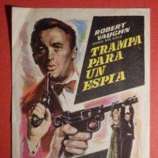 Cine: FOLLETO DE MANO PELÍCULA - FILM - LARGOMETRAJE - TRAMPA PARA UN ESPIA - COLISEUM - TARRAGONA. Lote 189905993