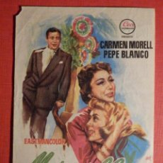 Cine: FOLLETO DE MANO PELÍCULA - FILM - LARGOMETRAJE - MARAVILLA - CINEMA GOYA - VALENCIA. Lote 189906062