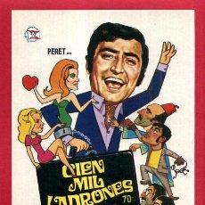 Folhetos de mão de filmes antigos de cinema: CIEN MIL LADRONES PERET SENCILLO SIN CINE ORIGINAL PMD 1140. Lote 190004116