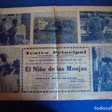 Cine: (PG-190655)EL NIÑO DE LAS MONJAS - TEATRO PRINCIPAL VILAFRANCA DEL PANADES - AÑO 1927. Lote 190078383