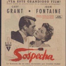 Cine: PROGRAMA DOBLE DE SOSPECHA (1941) - CINE CAPITOL. Lote 190180353