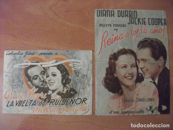DURANGO, VIZCAYA, DOS FOLLETOS DEL GRAN CINEMA ZUGAZA Y DEL TEATRO ESPAÑA (Cine - Folletos de Mano - Musicales)