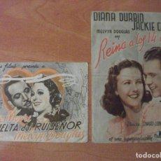 Foglietti di film di film antichi di cinema: DURANGO, VIZCAYA, DOS FOLLETOS DEL GRAN CINEMA ZUGAZA Y DEL TEATRO ESPAÑA. Lote 190285506
