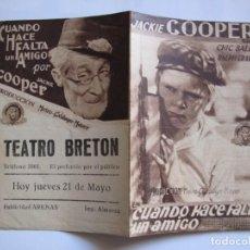 Cine: 69 ------ PROGRAMA DE MANO ORIGINAL EL DE LA FOTO. Lote 190290621