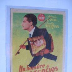 Cine: 143 ------ PROGRAMA DE MANO ORIGINAL EL DE LA FOTO. Lote 190297603