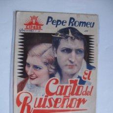 Cine: 197 ------ PROGRAMA DE MANO ORIGINAL EL DE LA FOTO. Lote 190300492