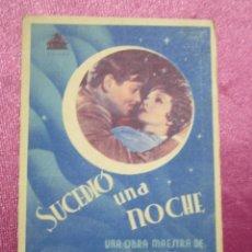 Cine: SUCEDIO UNA NOCHE TARJETA CLARK GABLE PROGRAMA CINE ROMA GIJON.. Lote 190367313