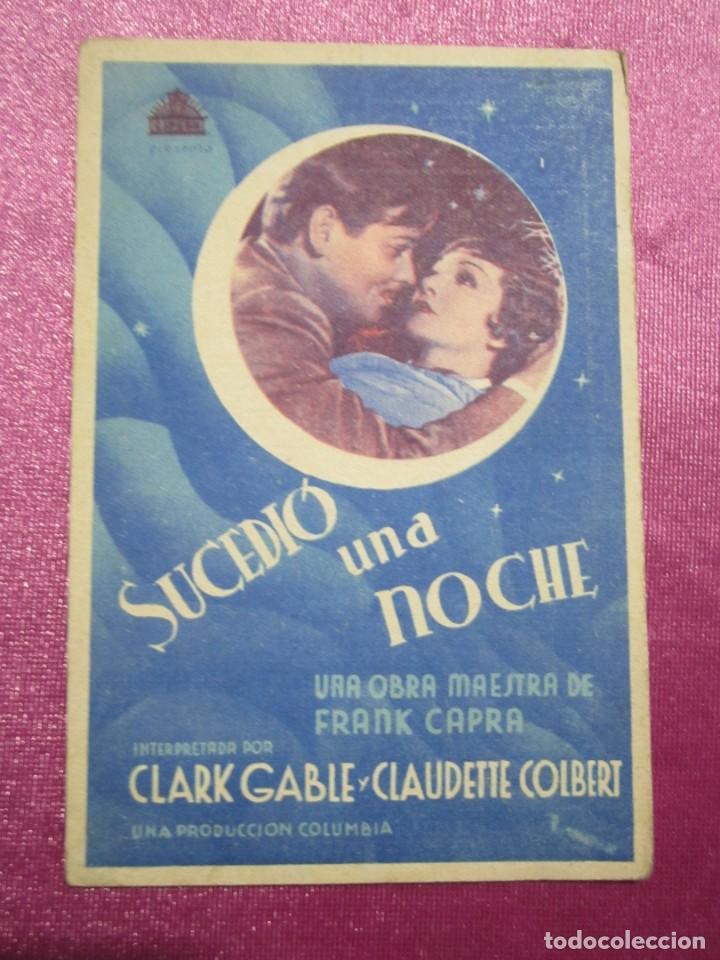 Cine: SUCEDIO UNA NOCHE TARJETA CLARK GABLE PROGRAMA CINE ROMA GIJON. - Foto 2 - 190367313