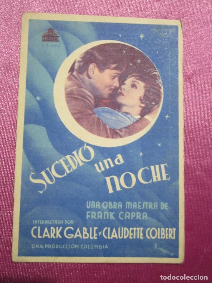 Cine: SUCEDIO UNA NOCHE TARJETA CLARK GABLE PROGRAMA CINE ROMA GIJON. - Foto 3 - 190367313