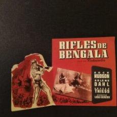 Cine: PROGRAMA DOBLE CINE, RIFLES DE BENGALA, PUBLICIDAD DE ZARAGOZA. Lote 190373836