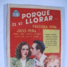 Cine: 207 ------ PROGRAMA DE MANO ORIGINAL EL DE LA FOTO. Lote 190379755