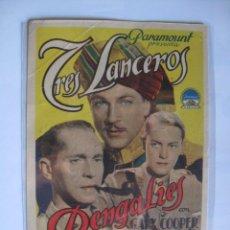 Cine: 291 ------ PROGRAMA DE MANO ORIGINAL EL DE LA FOTO. Lote 190387557