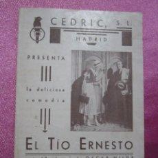 Cine: EL TIO ERNESTO CHARLOTTE ANDER PROGRAMA CINE DOBLE MUY RARO. Lote 190422285