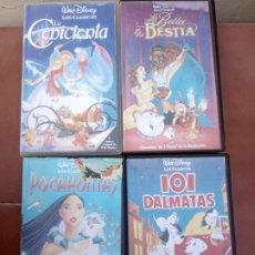 Cine: LOTE 4 PELÍCULAS DISNEY VHS. Lote 190528502