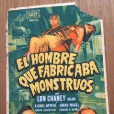 Cine: EL HOMBRE QUE FABRICABA MONSTRUOS.. Lote 190554648