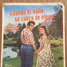 Cine: CUANDO EL VALLE SE CUBRA DE NIEVE.... Lote 190555637