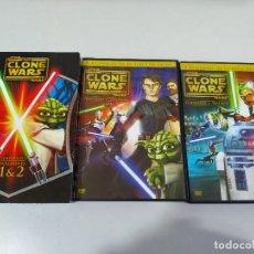 Cine: STAR WARS THE CLONE WARS TEMPORADA 1 VOLUMENES 1 & 2 - 2 X DVD ESPAÑOL ENGLISH. Lote 190584940