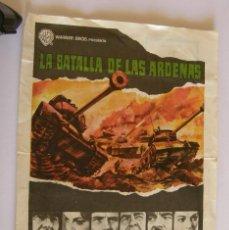 Cine: PROGRAMA DE CINE LA BATALLA DE LAS ARDENAS. Lote 190613426