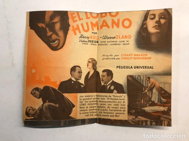 Cine: GUERRA CIVIL. CASTELLÓN Cine SALÓN ROYAL Folleto de Mano. El Lobo Humano. (MARZO DE 1936) - Foto 2 - 190652001