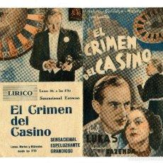 Cine: EL CRIMEN DEL CASINO, CON PAUL LUCAS.. Lote 190781241