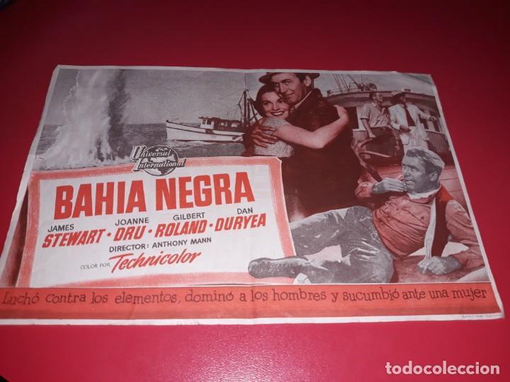 BAHIA NEGRA CON JAMES STEWART. PUBLICIDAD AL DORSO. AÑO 1953. (Cine - Folletos de Mano - Aventura)