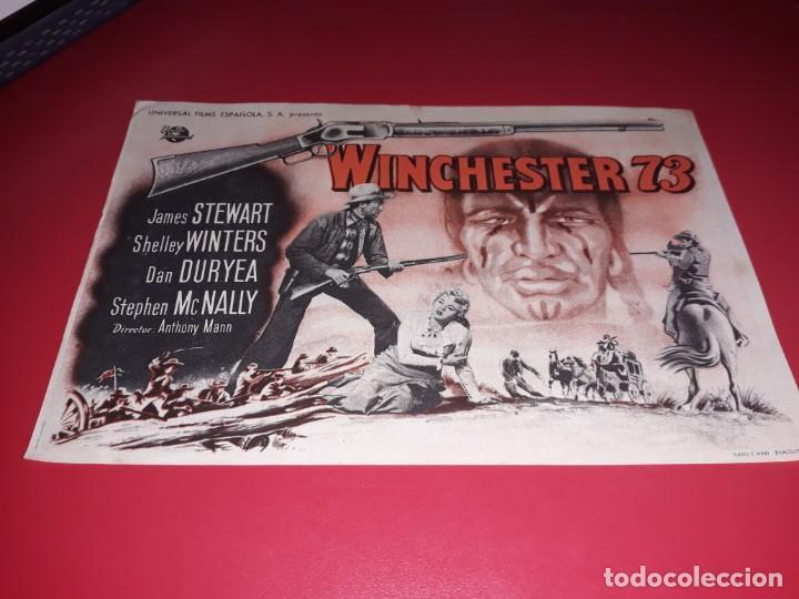 WINCHESTER 73 CON JAMES STEWART. AÑO 1950. (Cine - Folletos de Mano - Westerns)