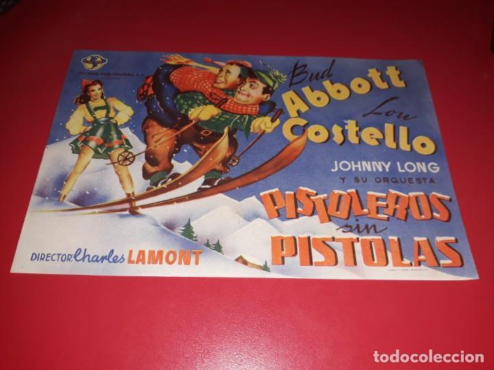PISTOLEROS SIN PISTOLAS ABBOT Y COSTELLO. AÑO 1943 (Cine - Folletos de Mano - Comedia)