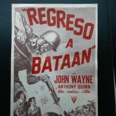 Cine: REGRESO A BATAAN, JOHN WAYNE, PROGRAMA GIGANTE , DESPUÉS: LA PATRULLA DEL CORONEL JACKSON. Lote 190979500