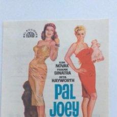 Cine: PAL JOEY,PROGRAMA DE CINE CON PUBLICIDAD. Lote 190999066