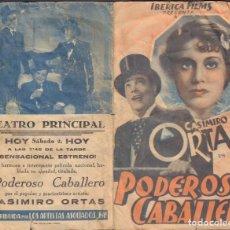 Cine: PROGRAMA DOBLE DE PODEROSO CABALLERO (1935) - TEATRO PRINCIPAL DE ÚBEDA. Lote 191014485