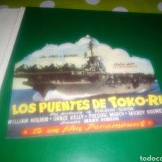 Cine: ANTIGUO PROGRAMA DE CINE TROQUELADO. LOS PUENTES DE TOKO RI. Lote 191081365