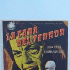 Cine: LA CARA DEL TERROR,PROGRAMA DE CINE CON PUBLICIDAD. Lote 191120761