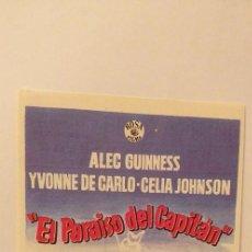 Cine: EL PARAISO DEL CAPITAN,PROGRAMA DE CINE CON PUBLICIDAD. Lote 191121345
