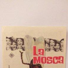 Cine: LA MOSCA,PROGRAMA DE CINE CON PUBLICIDAD. Lote 191123473