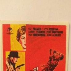 Cine: EL TRIANGULO DEL CRIMEN,PROGRAMA DE CINE SIN PUBLICIDAD. Lote 191146552