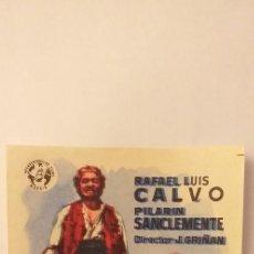Cine: MIGUITAS Y EL CARBONERO,PROGRAMA DE CINE SIN PUBLICIDAD. Lote 191150821