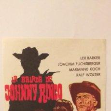 Cine: LA BALADA DE JOHNNY RINGO,PROGRAMA DE CINE SIN PUBLICIDAD. Lote 191151831