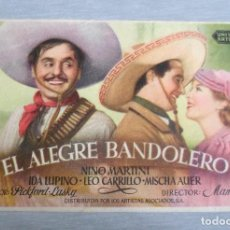 Cine: PROGRAMA DE CINE - EL ALEGRE BANDOLERO. Lote 191153345
