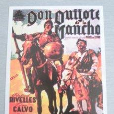 Cine: PROGRAMA DE CINE - DON QUIJOTE DE LA MANCHA. Lote 191184043