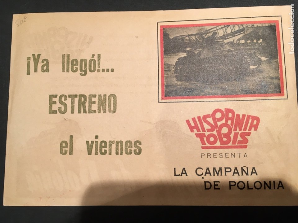Cine: LA CAMPAÑA DE POLONIA PROGRAMA DOBLE HISPANIA TOBIS DOCUMENTAL ALEMAN SEGUNDA GUERRA MUNDIAL - Foto 2 - 11417198