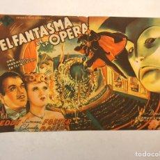 Cine: CINE CAPITOL CASTELLÓN FOLLETO DE MANO DOBLE EL FANTASMA DE LA ÓPERA (A.1946). Lote 191214428