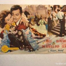 Cine: CINE SABOYA CASTELLÓN FOLLETO DE MANO DOBLE. LO QUE EL VIENTO SE LLEVÓ (A.1951). Lote 191215157