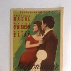Cine: CINE RIALTO CASTELLÓN, FRANCISCO RABAL EN LA HONRADEZ DE LA CERRADURA. (A.1951) FOLLETO DE MANO. Lote 191237395