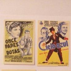 Cine: LOTE 4 PROGRAMAS E CINE SIN PUBLICIDAD(Nº 1). Lote 191307980