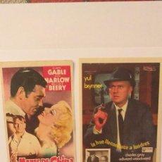 Cine: LOTE DE 4 PROGRAMAS DE CINE SIN PUBLICIDAD(Nº.2). Lote 191309285