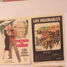 Cine: LOTE DE 4 PROGRAMAS DE CINE SIN PUBLICIDAD(Nº.4). Lote 191311003