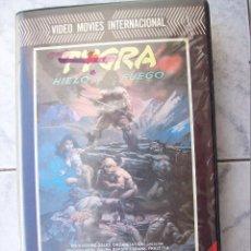 Cine: TYGRA HIELO Y FUEGO VHS. Lote 191365048
