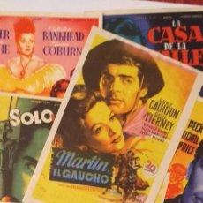 Cine: LOTE 8 PROGRAMAS DE CINE SOLIGO,CON Y SIN PUBLICIDAD(LOTE Nº.6). Lote 191401811