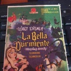 Cine: LA BELLA DURMIENTE FOLLETO DE MANO CON PUBLICIDAD. Lote 191708751